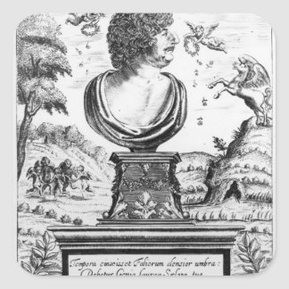 Robert Herrick , engraved by the artist Square Sticker