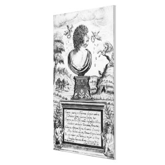 Robert Herrick , engraved by the artist Stretched Canvas Print