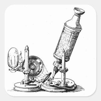 Robert Hooke's Microscope Square Sticker