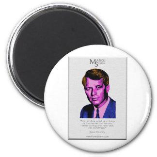 Robert Kennedy - Manoj Sharma 6 Cm Round Magnet