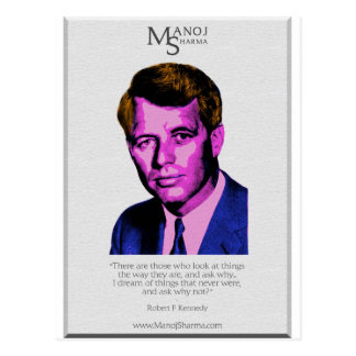 Robert Kennedy - Manoj Sharma Postcard