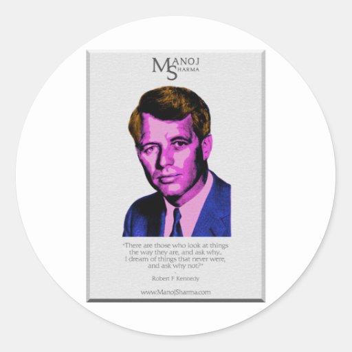 Robert Kennedy - Manoj Sharma Round Stickers