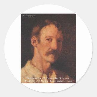 Robert Lewis Stevenson Quote Round Sticker