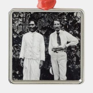 Robert Louis Stevenson and his friend Christmas Ornament