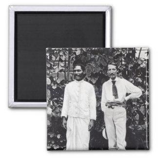Robert Louis Stevenson and his friend Square Magnet