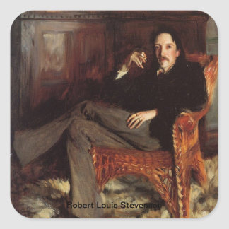 Robert Louis Stevenson Portrait Square Sticker