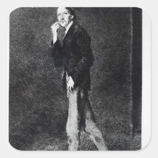 Robert Louis Stevenson Square Sticker