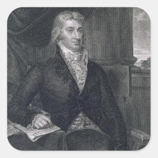 Robert R. Livingston, engraved by E. Mackenzie (en Square Sticker