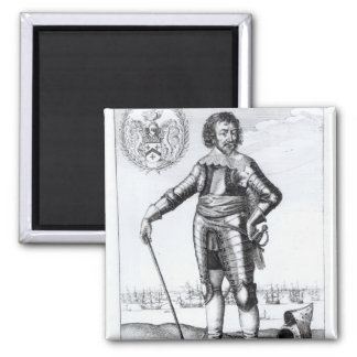 Robert Rich, 2nd Earl of Warwick Square Magnet
