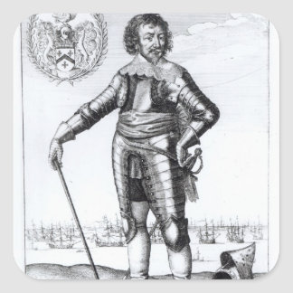 Robert Rich, 2nd Earl of Warwick Square Sticker