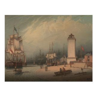 Robert Salmon - The Low Lighthouse, North Shields Postcard