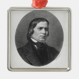 Robert Schumann, 1839 Silver-Colored Square Decoration