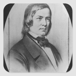 Robert Schumann  engraved from a photograph Square Sticker