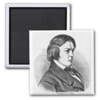 Robert Schumann Square Magnet