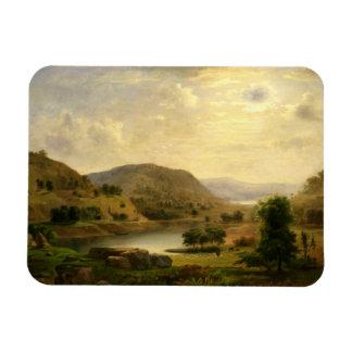 Robert Scott Duncanson - Valley Pasture Rectangular Photo Magnet