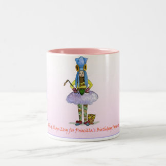 Robert Shops Etsy for Priscilla's Holiday Presents Two-Tone Mug