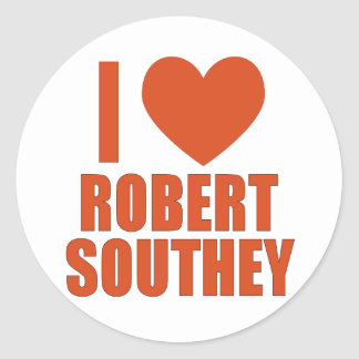 Robert Southey Round Sticker