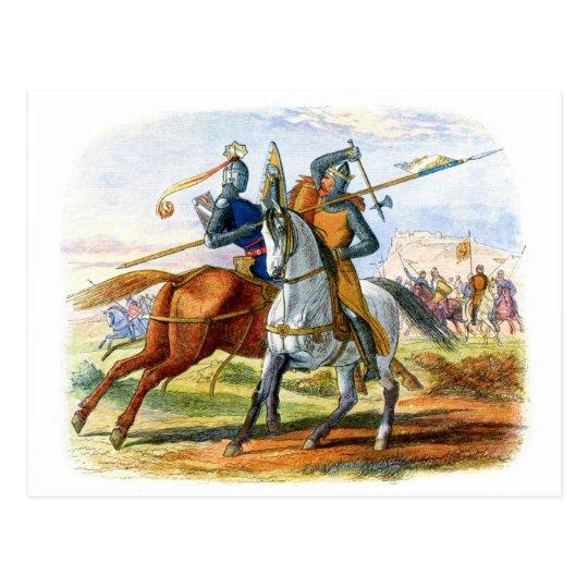 Robert the Bruce kills Sir Henry Bohum Postcard