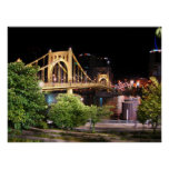 Roberto Clemente Bridge - Pittsburgh, Pennsylvania Poster