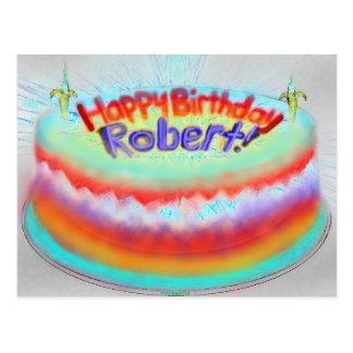 Robert's 2014 Birthday Cake Postcard
