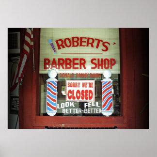 Roberts Barber Shop Print