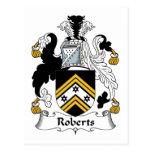 Roberts Family Crest Postcard