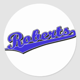 Roberts in Blue Stickers