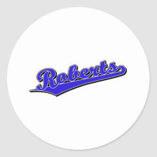 Roberts in Blue Round Sticker