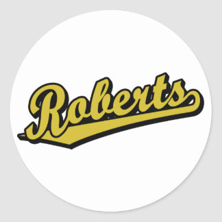 Roberts in Gold Stickers