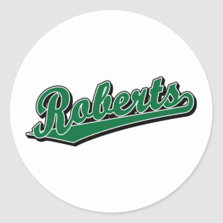 Roberts in Green Round Stickers
