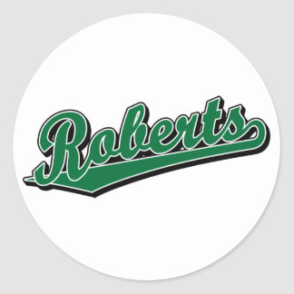 Roberts in Green Round Sticker