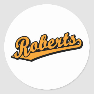 Roberts in Orange Stickers