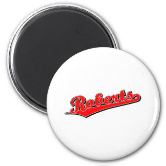 Roberts in Red Refrigerator Magnet
