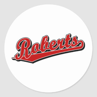 Roberts in Red Round Sticker