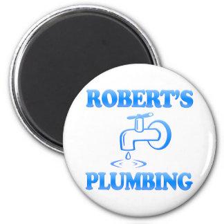 Robert's Plumbing 6 Cm Round Magnet