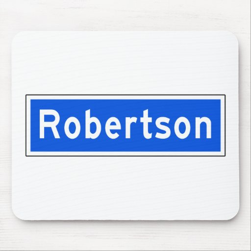 Robertson Boulevard, Los Angeles, CA Street Sign Mouse Pad