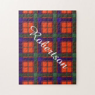 Robertson clan Plaid Scottish tartan Jigsaw Puzzle