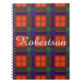 Robertson clan Plaid Scottish tartan Notebook
