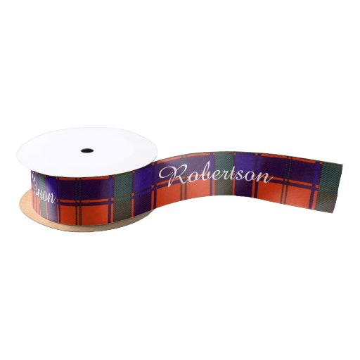 Robertson clan Plaid Scottish tartan Satin Ribbon