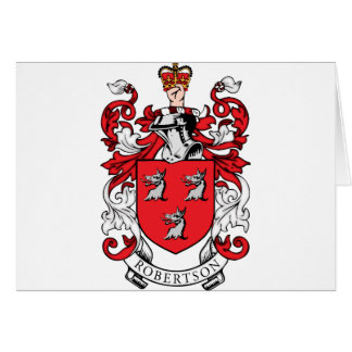Robertson Family Coat of Arms Greeting Card