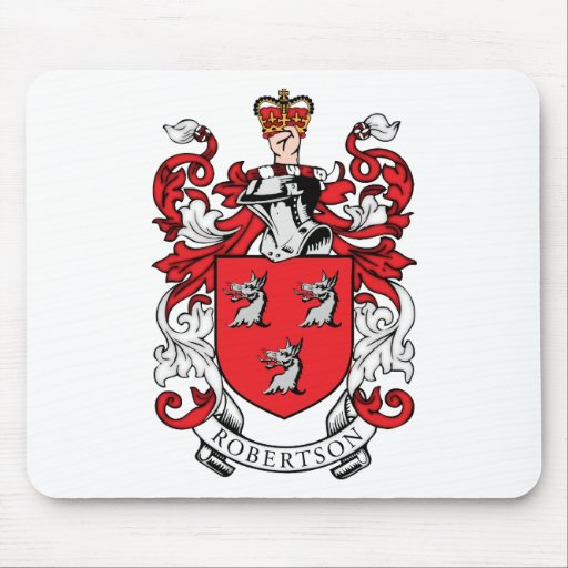 Robertson Family Coat of Arms Mouse Mat