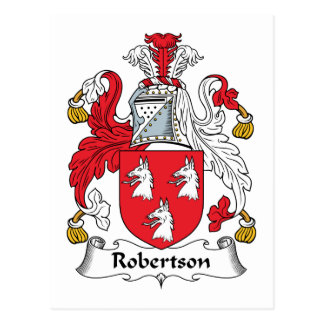 Robertson Family Crest Postcard