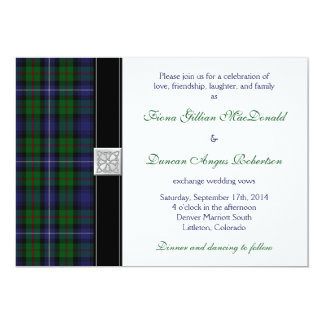 Robertson Hunting Tartan Celtic Wedding Invitation