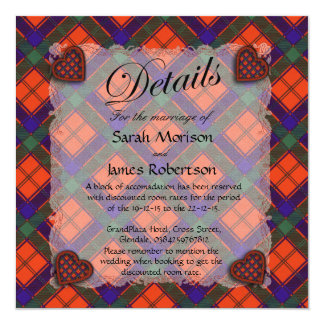 Robertson Scottish clan tartan - Plaid 13 Cm X 13 Cm Square Invitation Card