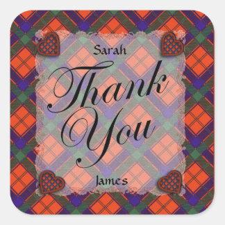 Robertson Scottish clan tartan - Plaid Square Stickers
