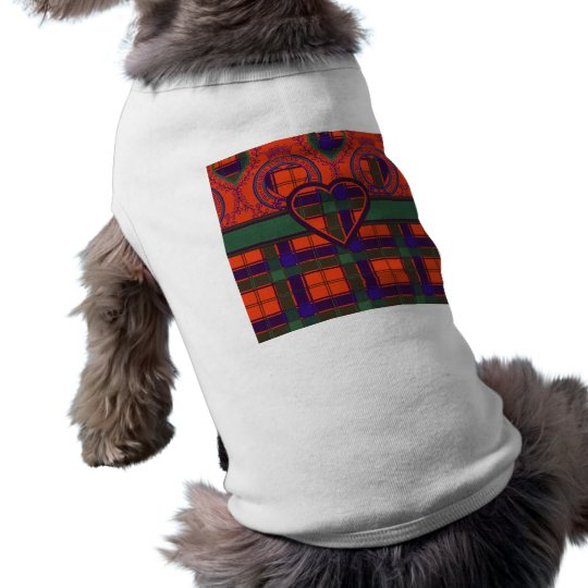 Robertson Scottish Tartan Sleeveless Dog Shirt