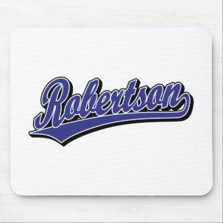 Robertson script logo in blue deluxe mousepad