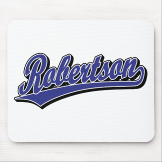 Robertson script logo in blue deluxe mouse pad