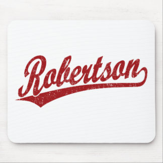 Robertson script logo in red distressed mousepads