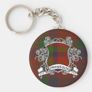 Robertson Tartan Shield Key Ring